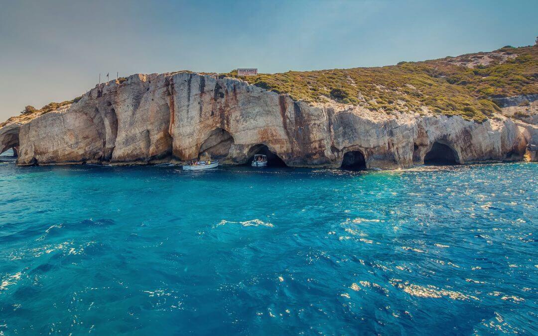 Modré jeskyně Zakynthos