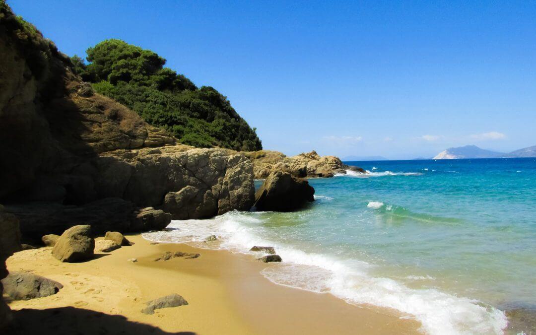 Pláže ostrova Zakynthos