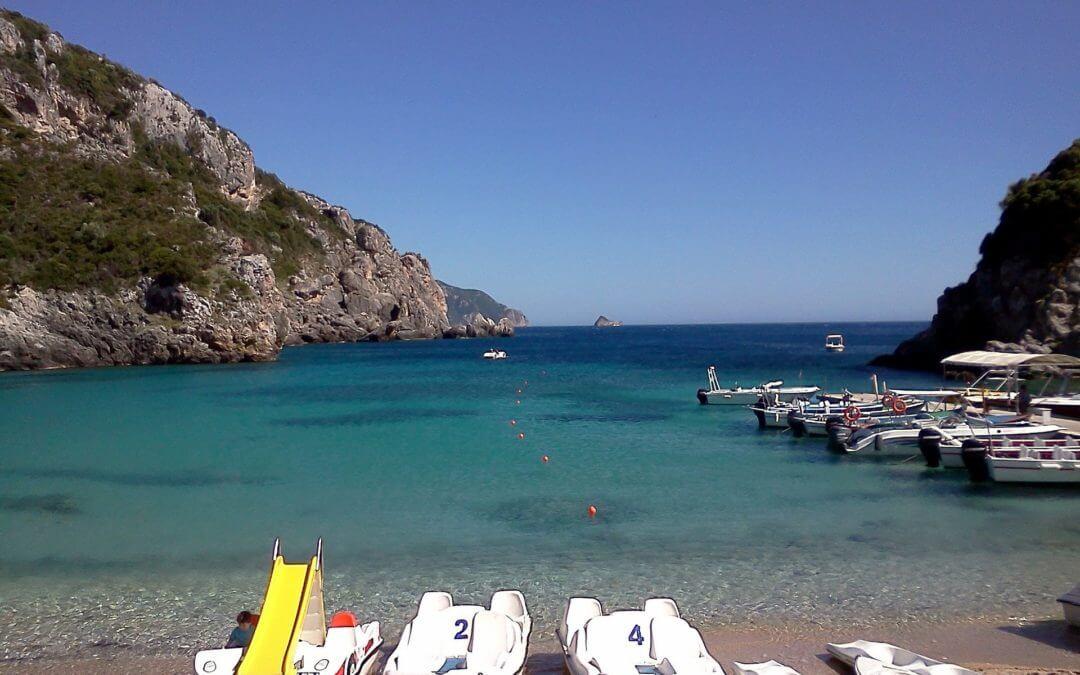 Pláže ostrova Korfu